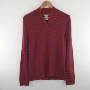 Horny Toad Striped Wool Sweater